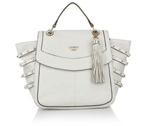 Guess Isella Top Handle Flap Chalk Handtaschen