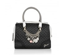 Guess Rakelle Box Satchel Black Multi Handtaschen