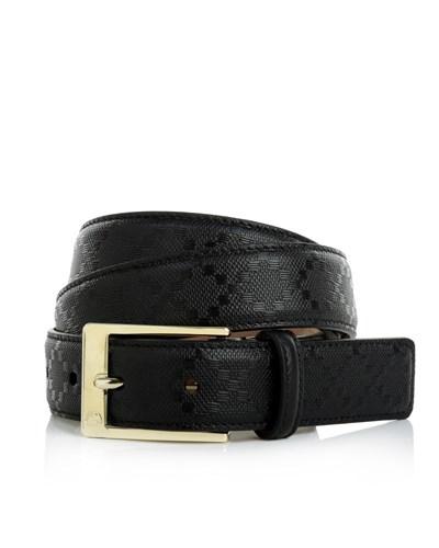 gucci damen gucci square buckle leather belt black accessoires reduziert. Black Bedroom Furniture Sets. Home Design Ideas