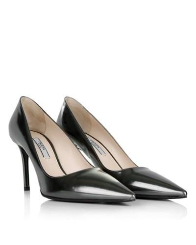 prada damen prada calzature donna vitello specchio antracite schuhe reduziert. Black Bedroom Furniture Sets. Home Design Ideas