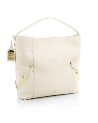 ralph lauren damen hobo bag strap ivory umh ngetasche von lauren ralph lauren in wei 30. Black Bedroom Furniture Sets. Home Design Ideas