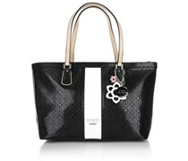 Guess Bianco Nero Medium Classic Tote Black Multi Handtaschen