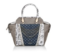 Guess Tru Romance Avery Satchel Denim Multi Handtaschen