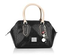 Guess Blossom Frame Satchel Black Handtaschen