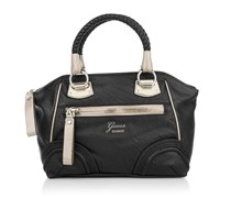Guess Dark Side Small Uptown Satchel Black Handtaschen