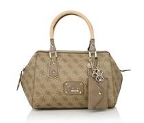 Guess Park Lane Frame Satchel Brown Handtaschen