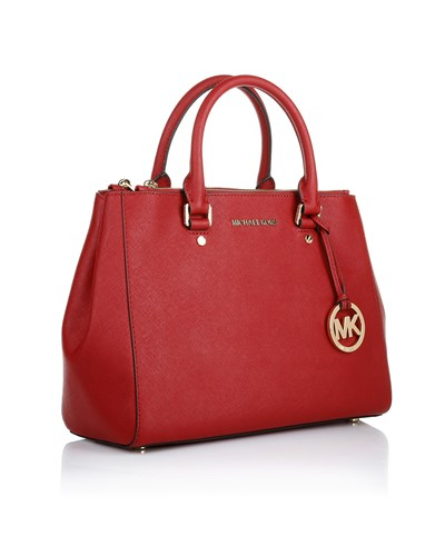 michael kors damen sutton md satchel chili henkeltasche von michael kors in rot 30 reduziert. Black Bedroom Furniture Sets. Home Design Ideas