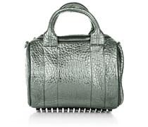 Alexander Wang Rockie Carbon Lamb Pebble Silver Handtaschen