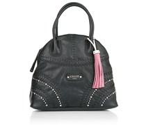 Guess Hylah Dome Satchel Black Handtaschen
