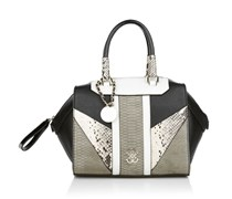 Guess Paxton Box Satchel Black Multi Handtaschen