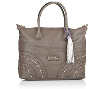 Guess Hylah Medium Tote Taupe Handtaschen