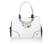 Guess Rakelle Girlfriend Satchel White Multi Handtaschen