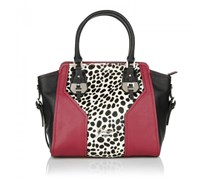 Guess Confidential Avery Satchel Snow Leopard Handtaschen