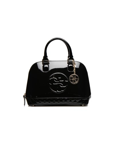 guess damen guess amy shine m dome satchel handtaschen. Black Bedroom Furniture Sets. Home Design Ideas