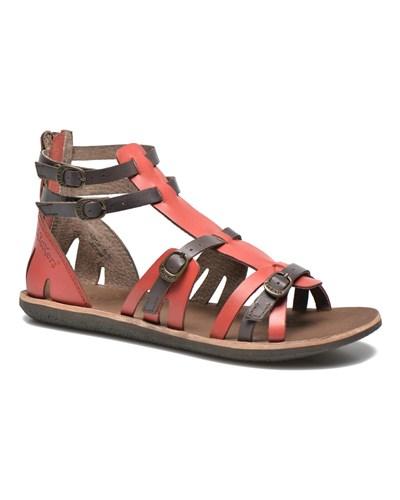 kickers damen kickers spartiaten sandalen f r damen rot reduziert. Black Bedroom Furniture Sets. Home Design Ideas