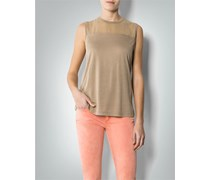 Damen Tommy Hilfiger Damen T-Shirt beige beige unifarben Fashion