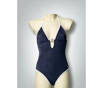 Damen Tommy Hilfiger Damen Badeanzug blau unifarben Trendig,Fashion