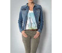 Damen Tommy Hilfiger Damen Jeans-Jacke blau unifarben Fashion