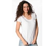 Damen Tommy Hilfiger Damen T-Shirt weiß weiß unifarben Klassisch,Trendig