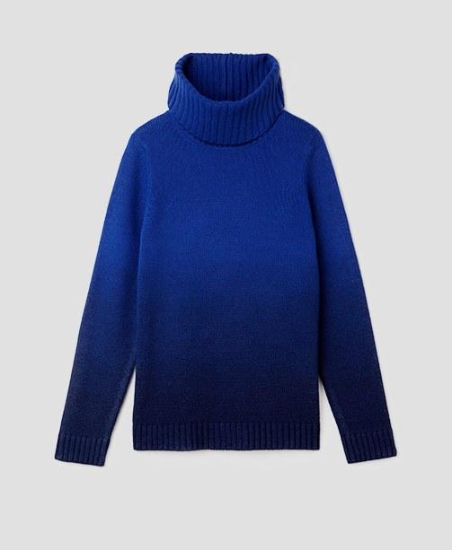 Rollkragen Pullover in leuchtendem Blau