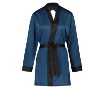 Kimono Satin Lace Doutzen Blau