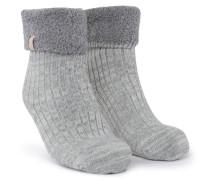 1 Paar Socken Cosy Rib Grau