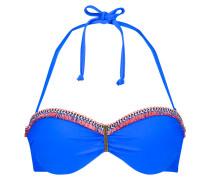 Vorgeformtes Strapless-Push-up-Bügel-Bikinitop Summer Bling Blau