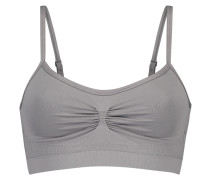 Strappy-Top, seamless Grau