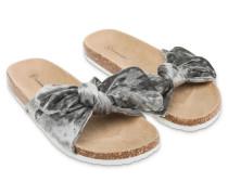 Slippers Velvet Grau