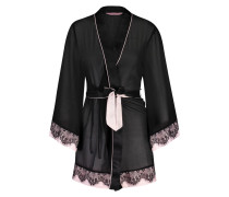 Kimono Chiffon Fine Lace Schwarz