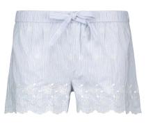 Shorts Woven Stripe Blau