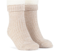 1 Paar Socken Cosy Rib Weiß