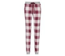 Pyjamahose Twill Check Rot