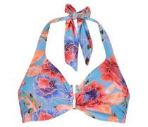 Bügel-Bikinitop Mixed Flower Blau