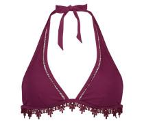 Triangel-Bikinitop Arabesque Rot