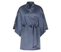 Kimono Lace Satin Grau