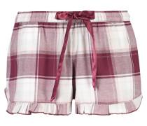 Pyjamashorts Check Rot
