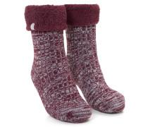 1 Paar Socken Cosy Rib Rot