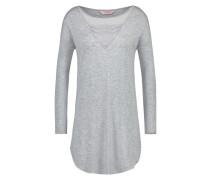 Langarm-Nachthemd mit Rundhals Grau