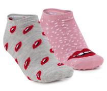 2 Paar Socken Lila