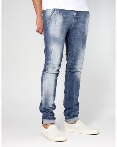 Salvo Low Crotch Slim Fit Jeans