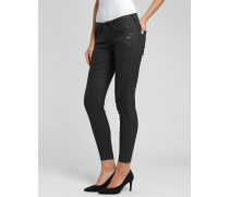 Faye Biker Cropped Coated Skinny Fit Jeans