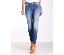 New Georgia Skinny Fit Cropped Jeans