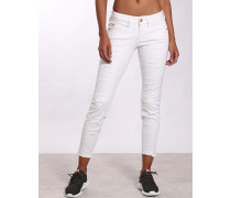 Janet Ripped Skinny Fit Jeans, Cropped