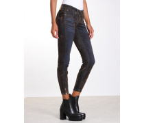 Faye Skinny Fit Cropped Samt Jeans