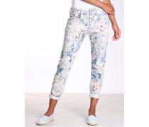 Rose Deep Crotch Hose mit floralem Print