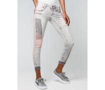 Nena Patchwork Skinny Jeans