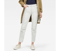 Biwes Badge High Straight Ankle Jeans