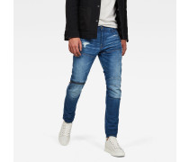 5620 3D Zip Knee Ripped Slim Jeans