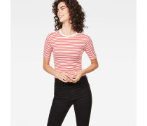 Raw Correct Silber Cropped T-Shirt